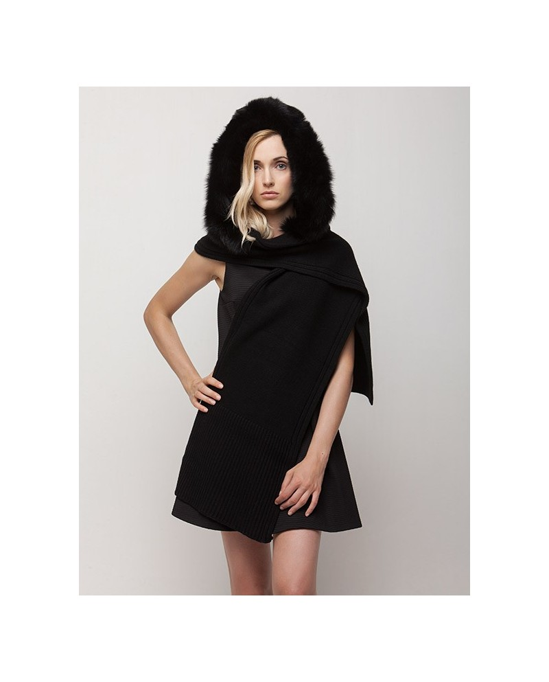 Wool Scarf And Hood
