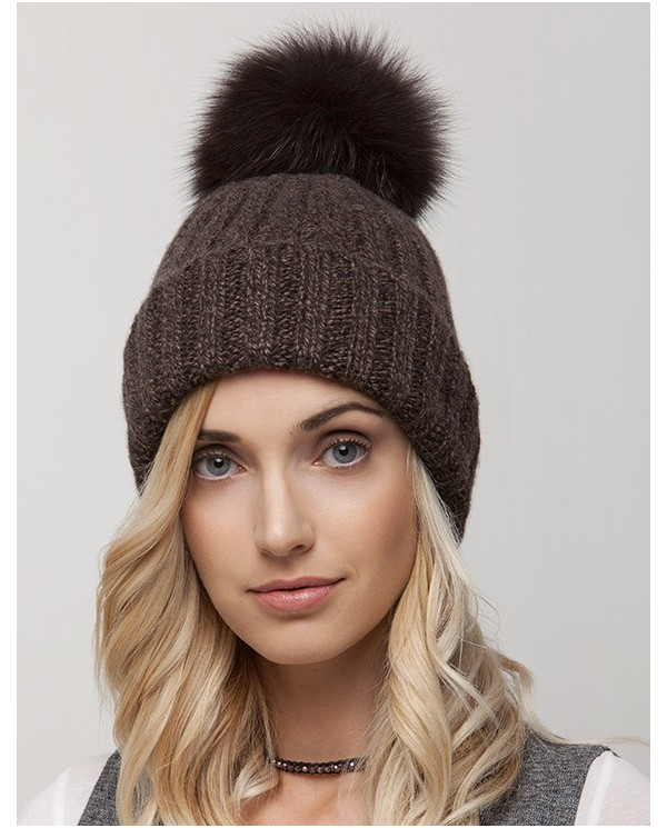 Wool Hat With Pon Pon